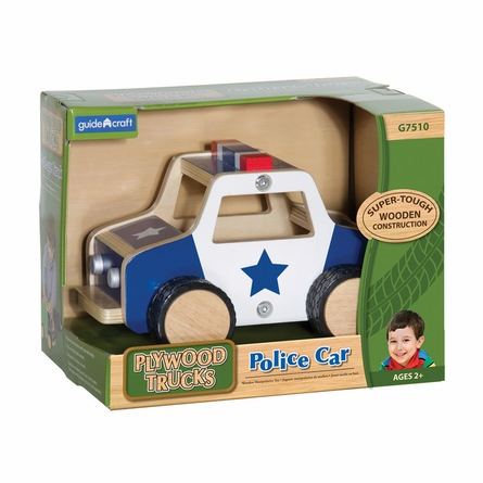 Plywood Police Car