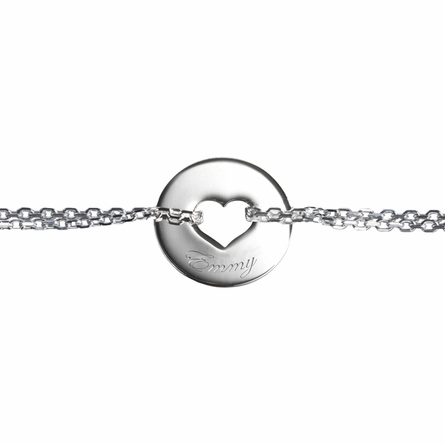 Poem Heart Bracelet in Silver