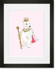 Polar Bear Queen Framed Art Print