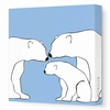 Polar Bears Canvas Wall Art