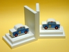 Police Car Bookends with White Base