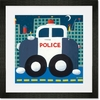 Police Cruiser Framed Art Print