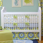 Polka Dot Boys Crib Bedding