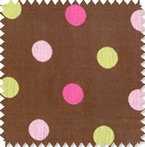 Polka Dot Chocolate Doodlefish Fabric by the Yard
