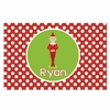 Polka Dot Elf Personalized Placemat