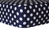 Polka Dot in Navy Crib Sheet $(+54.00)