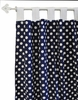 Polka Dot in Navy Curtain Panels - Set of 2
