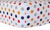 Polka Dot in Rugby Crib Sheet $(+54.00)