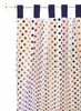 Polka Dot in Rugby Curtain Panels - Set of 2