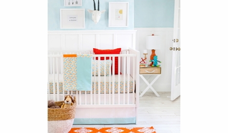 Polka Dot Parade Crib Sheet
