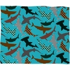 Polka Dot Sharks Fleece Throw Blanket