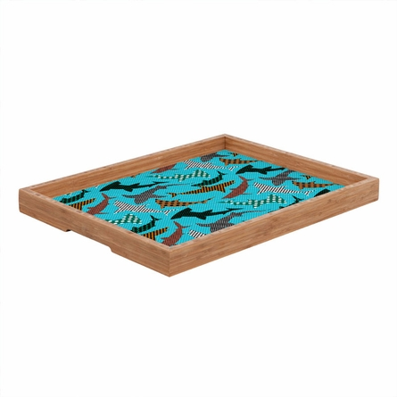 Polka Dot Sharks Rectangle Tray