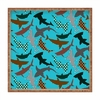 Polka Dot Sharks Square Tray