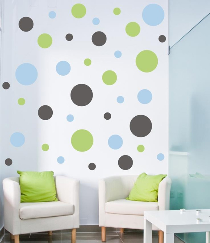 Polka Dot Wall Decals For Kids Rooms : Polka Dots Wall Decal by Alphabet Garden Designs - RosenberryRooms.com