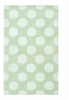 Polkamania Rug in White and Green