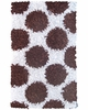 Polkamania Shaggy Raggy Rug in Brown & White Rug