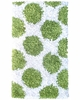 Polkamania Shaggy Raggy Rug in Lime and White