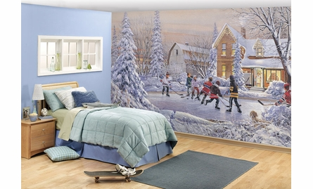 Pond Hockey Wall Mural