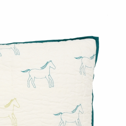 Pony Love Quilted Decorative Pillow Cover
