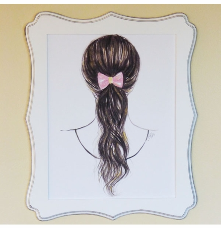 Pony Tail Bow Art Print