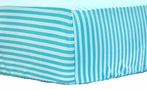 Pool Stripe Crib Sheet