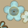 Pop Blossoms in Blue II Canvas Reproduction