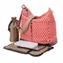 Poppy Red Geometric Two Pocket Hobo Diaper Bag