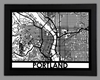 Portland Framed City Map