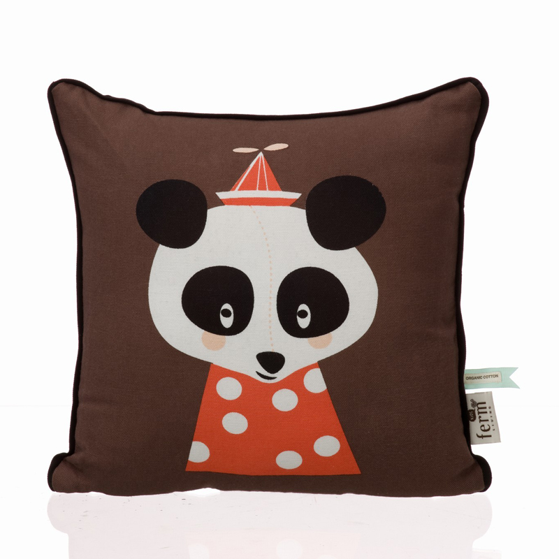 Posey Panda Organic Cotton Throw Pillow By Ferm Living