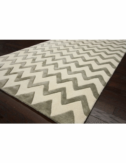 Posh Chevron Rug in Silver