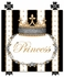 Posh Princess Crown Personalized Canvas Art in Antico Black