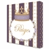 Posh Princess Crown Personalized Canvas Art in Aubergine Dream
