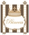 Posh Princess Crown Personalized Canvas Art in Coco Chateau
