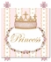 Posh Princess Crown Personalized Canvas Art in Posey Pink