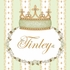 Posh Princess Crown Personalized Canvas Art in Provence Green