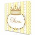 Posh Princess Crown Personalized Canvas Art in Sunshine Yellow
