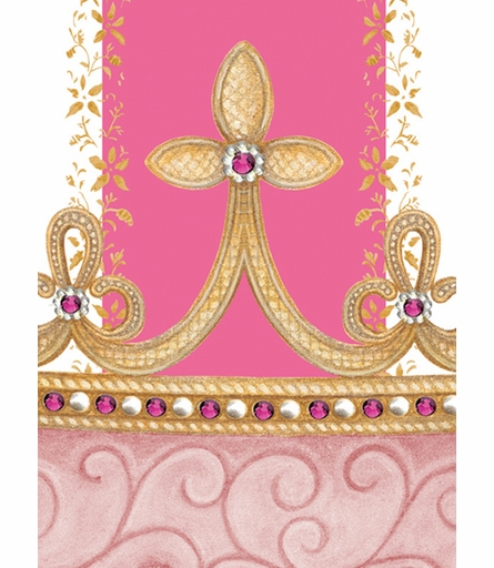 Posh Princess Crown Personalized Canvas Art in That's Hot Pink