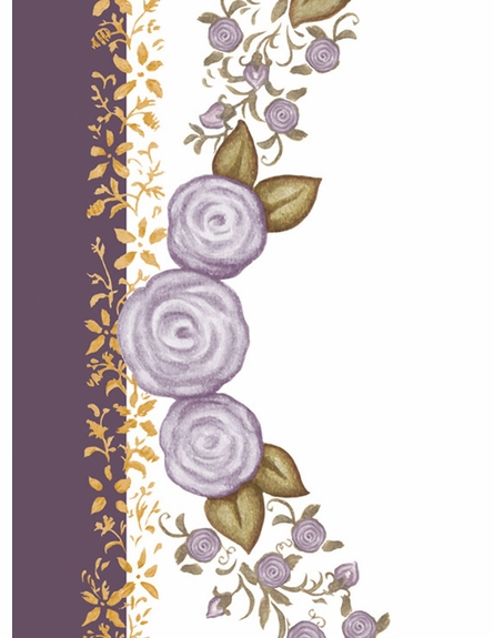Posh Princess Crown Personalized Wall Hanging in Aubergine Dream