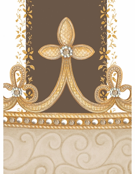 Posh Princess Crown Personalized Wall Hanging in Coco Chateau