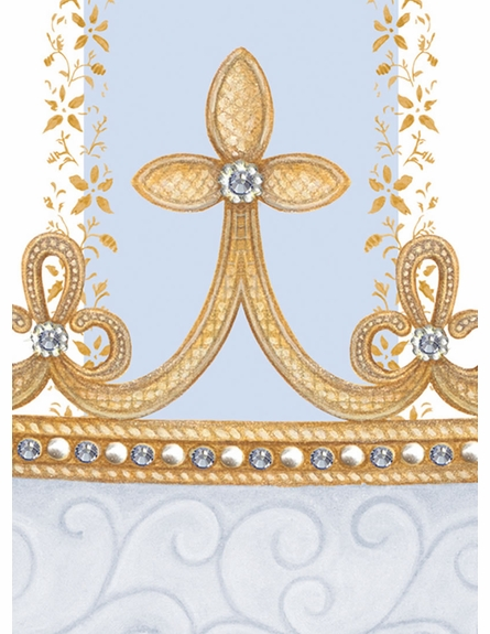 Posh Princess Crown Personalized Wall Hanging in French Blue