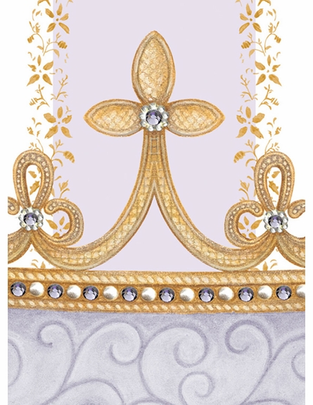 Posh Princess Crown Personalized Wall Hanging in Lovely Lavender