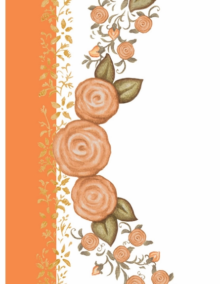Posh Princess Crown Personalized Wall Hanging in Marigold Orange