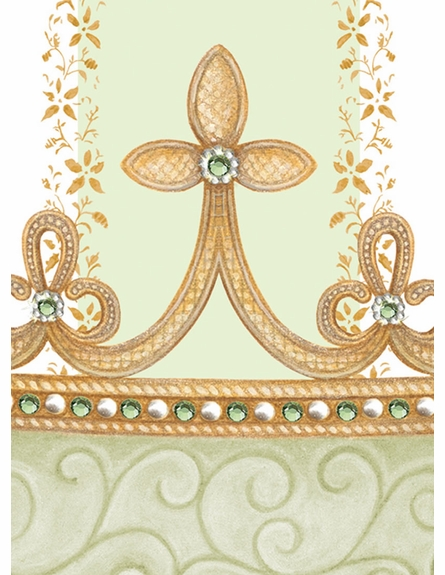 Posh Princess Crown Personalized Wall Hanging in Provence Green