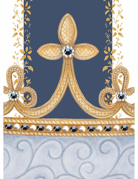 Posh Princess Crown Personalized Wall Hanging in Royal Blue