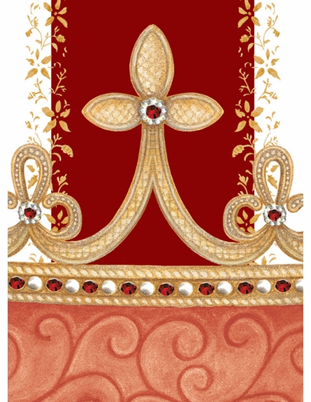 Posh Princess Crown Personalized Wall Hanging in Ruby Red