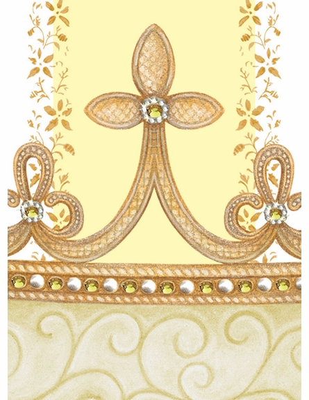 Posh Princess Crown Personalized Wall Hanging in Sunshine Yellow