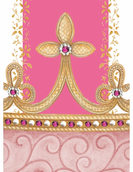 Posh Princess Crown Personalized Wall Hanging in That's Hot Pink