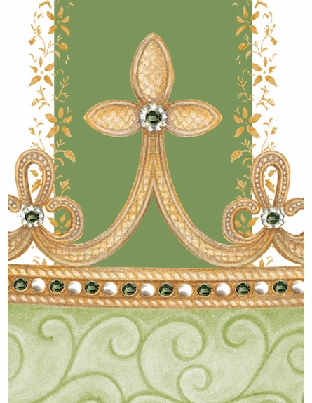 Posh Princess Crown Personalized Wall Hanging in Versaille Sage