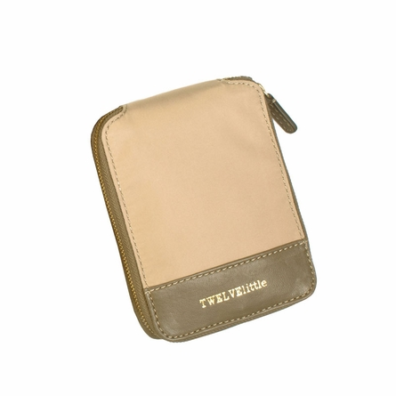 Pouch Tote Bag in Beige