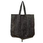 Pouch Tote Bag in Black